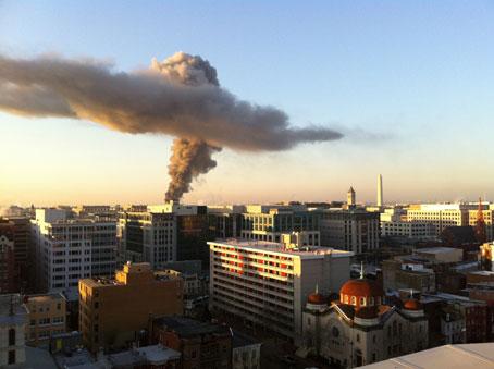 Brian Levey Fire Photo - Washington Post