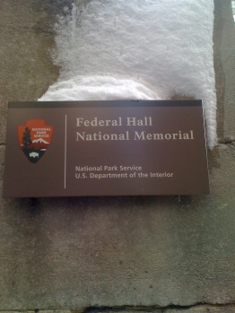 Federal Hall Memorial Sign