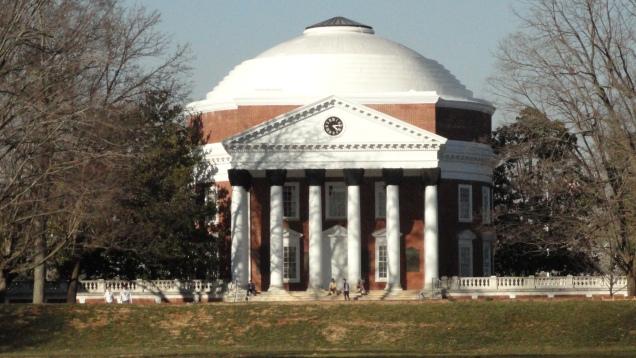 Jefferson's Rotunda, the original library at UVa