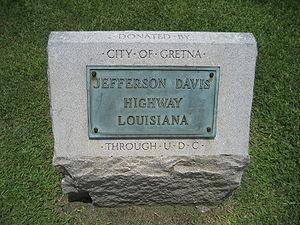 Jefferson Davis Highway Marker