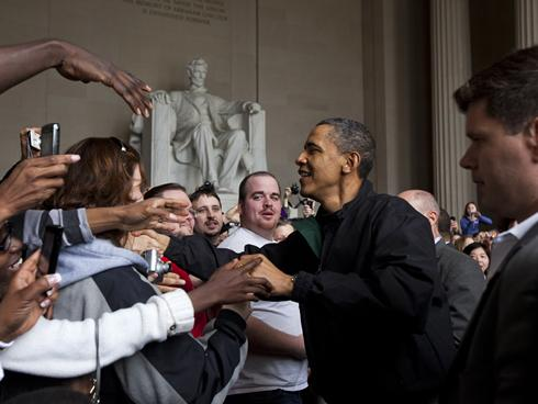 Obama - Lincoln Memorial - Getty Images