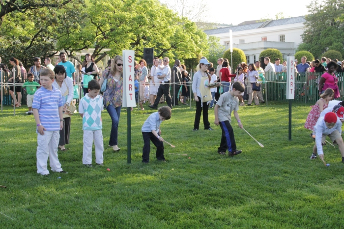 Easter Egg Rolling Race