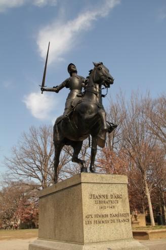 Jeanne D'Arc statue, Meridian Hill Park