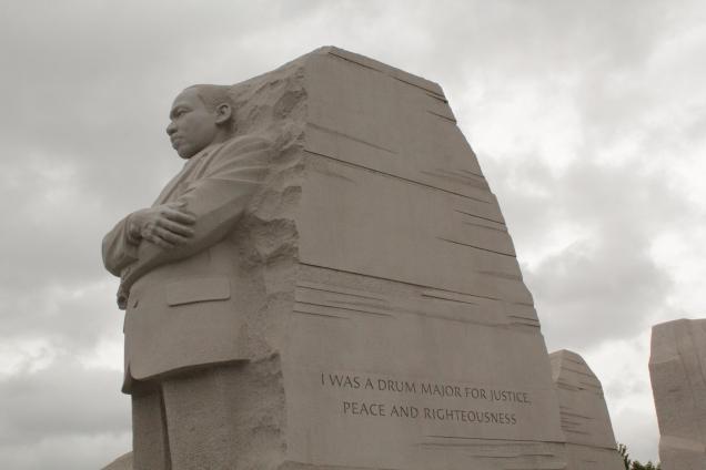 MLK Statue - Drum Major Quote