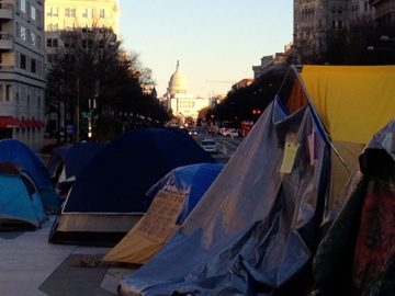Occupy D.C. camp in Freedom Plaza