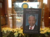 The National Museum of African Art has its own tribute to Mandela.