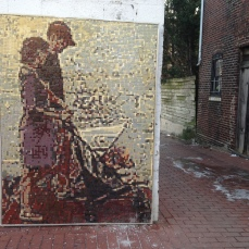 A mosaic mural in Blagden Alley.