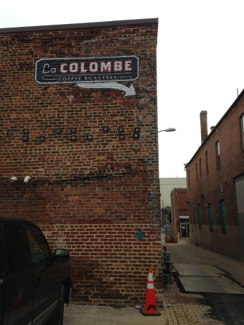 The back of La Colombe.