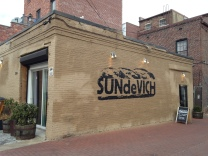 The very tasty SUNdeVICH sandwich shop in Blagden Alley.