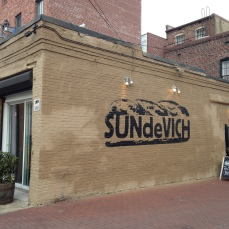 The very tasty SUNdeVICH sandwich shop in Blagden Alley.