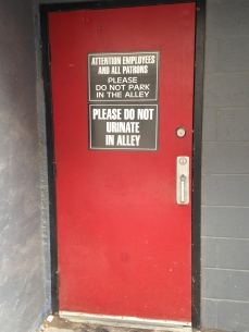 Despite the gentrification, it's still an alley after all.