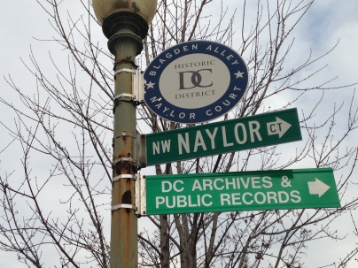 The entrance to Naylor Court, home to D.C.'s Archives and Public Records.