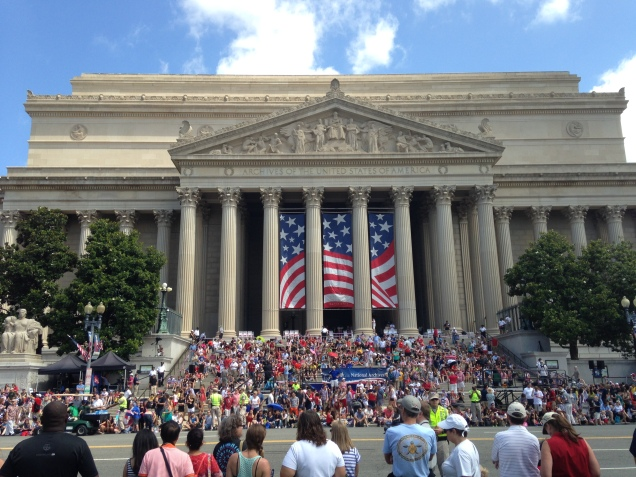 Festivities in front of the National Archives this July 4th. (Photo: HD)