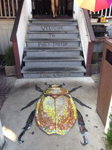 The famous Gold Bug at Poe's Tavern on Sullivan's Island.